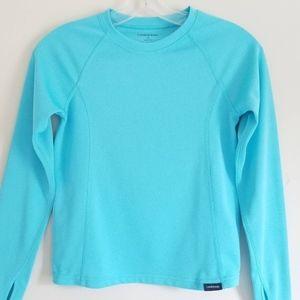 Lands' End Turquoise Rash Guard Swim Shirt